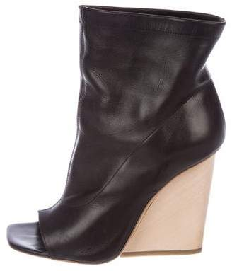 Vic Matié Peep-Toe Wedge Booties