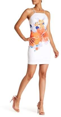 GUESS Floral Print Halter Dress