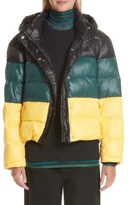 Proenza Schouler PSWL Colorblock Hooded Puffer Coat