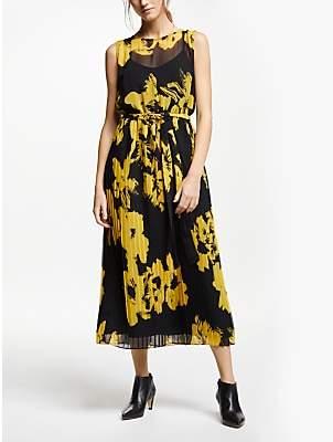 Marella Floral Print Maxi Dress, Yellow/Black