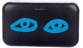 Clare Vivier Eyes Leather Chain-Link Clutch