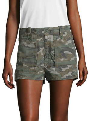 High-Waisted Military Short