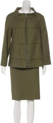Lafayette 148 Long Sleeve Knee-Length Skirt Set