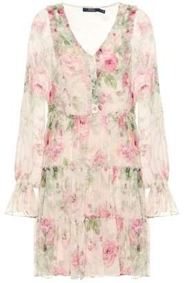 Polo Ralph Lauren Floral-printed silk dress