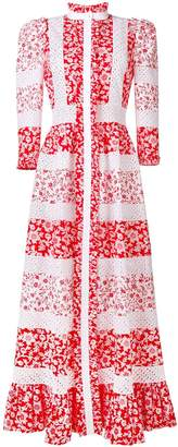 Alexander McQueen floral print maxi dress