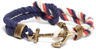 Brooks Brothers Kiel James Patrick Red Navy and White Triton Bracelet