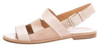 Hermes Leather & Suede Strap Sandals