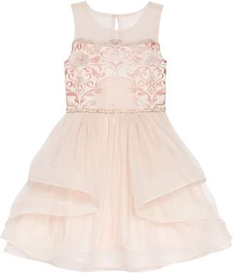 b2c58fc57e8bd Blush by Us Angels Sleeveless Embroidered Fit & Flare Dress