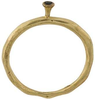 Rosa Maria single black diamond band ring