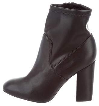 Rebecca Minkoff Leather Round-Toe Booties