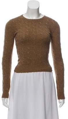 Ralph Lauren Black Label Crew Neck Cable Knit Sweater