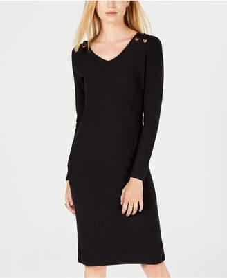 Derek Heart Juniors' Grommeted Brushed Jersey Dress