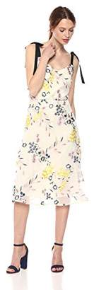 Donna Morgan Women's Blouson Embroidered Midi Dress