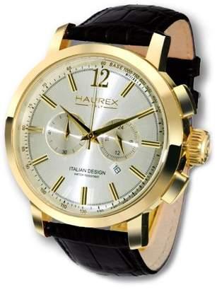 Haurex Italy Men's 9G330USS Maestro Gold PVD Case Chronograph 24 Hour Watch
