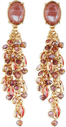 Lydell NYC Crystal Dangle Earrings, Pink