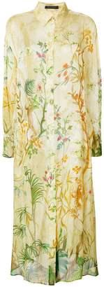 Alberta Ferretti jungle print shirt dress