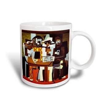N. 3dRose Picasso Painting Musicians Masks, Ceramic Mug, 11-ounce