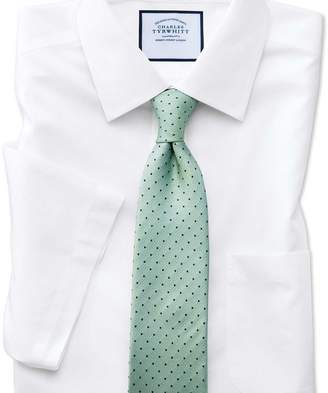 Charles Tyrwhitt Slim fit non-iron poplin short sleeve white shirt