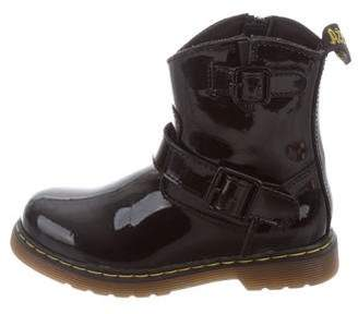 Dr. Martens Kids Girls' Patent Leather Ankle Boots