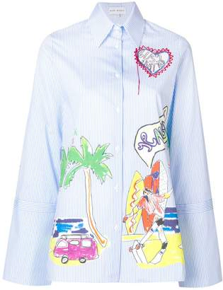 Mira Mikati printed striped shirt