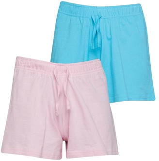 8c9c0fcde3 Board Angels Girls Two Pack Plain Jersey Shorts Candy Pink/Turquoise