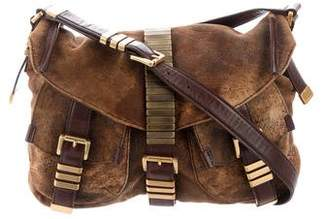 Michael Kors Distressed leather Crossbody Bag