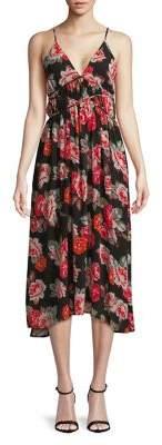 ASTR the Label Floral Lace-Up Dress