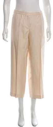 Alberta Ferretti High-Rise Straight-Leg Pants Beige High-Rise Straight-Leg Pants