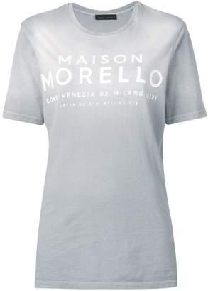 Frankie Morello slogan printed T-shirt