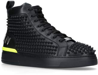 Philipp Plein Studded Loden High-Top Sneakers