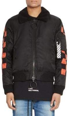 Off-White Checker Bomber Jacket
