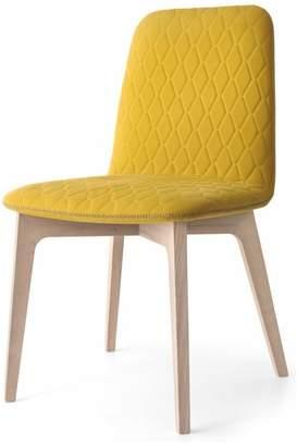 Calligaris Sami Upholstered Wooden Chair, Natural Frame