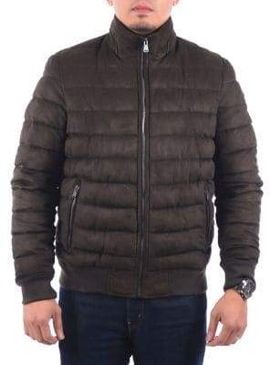 Perry Ellis Quilted Puffer Bomber Jacket