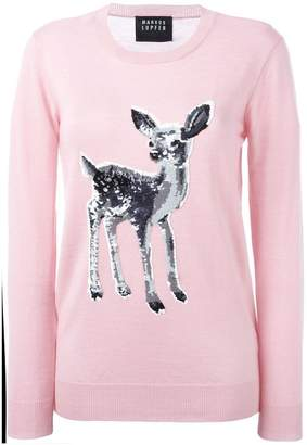 Markus Lupfer sequinned fawn sweater