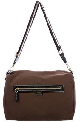 Frances Valentine Leather-Trimmed Shoulder Bag