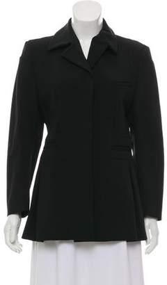 Miu Miu Pleated Wool Blazer