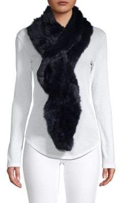 Surell Long-Haired Rabbit Fur Scarf