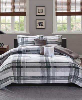 Intelligent Design Rudy 5-Pc. Plaid Full/Queen Comforter Set Bedding