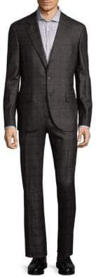 Brunello Cucinelli Plaid Wool Suit