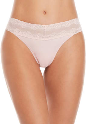 Natori Bliss Lace Trim Thong