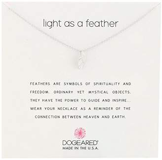 Dogeared Reminders- Light as a Feather Sterling Feather Charm Necklace