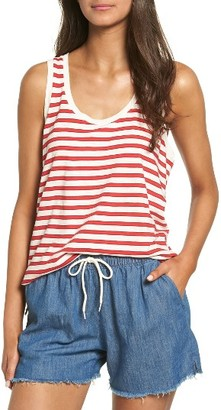 Women's Madewell Stripe Cotton Tank $19.50 thestylecure.com