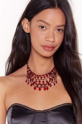 Nasty Gal Womens Bad Blood Beaded Layered Necklace - One Size