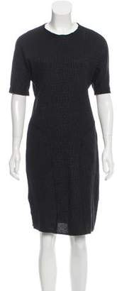 Saint Laurent Wool-Blend Jacquard Dress w/ Tags