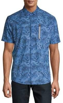 Point Zero Printed Button-Down Shirt