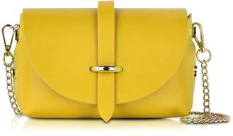 Le Parmentier Caviar Small Yellow Leather Shoulder Bag