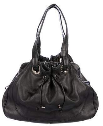 Bvlgari Leather Drawstring Shoulder Bag