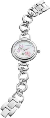 Akribos XXIV Women's Ornate Crystal Floral Butterfly Watch