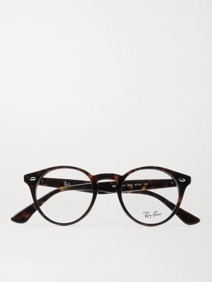 Ray-Ban Round-Frame Tortoiseshell Acetate Optical Glasses - Men - Tortoiseshell