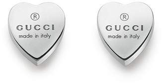 Gucci Jewel Trademark Heart Earrings 925 Silver With Engraving